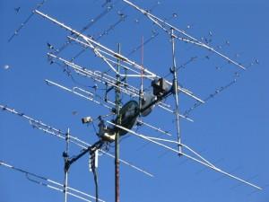 Antennenanlage von DL2DR für die Bänder 50MHz bis 47GHz