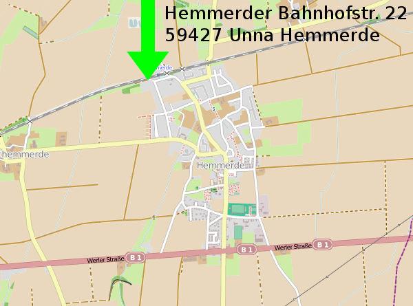 Adresse: Hemmerder Bahnhofstr. 22, 59427 Unna Hemmerde